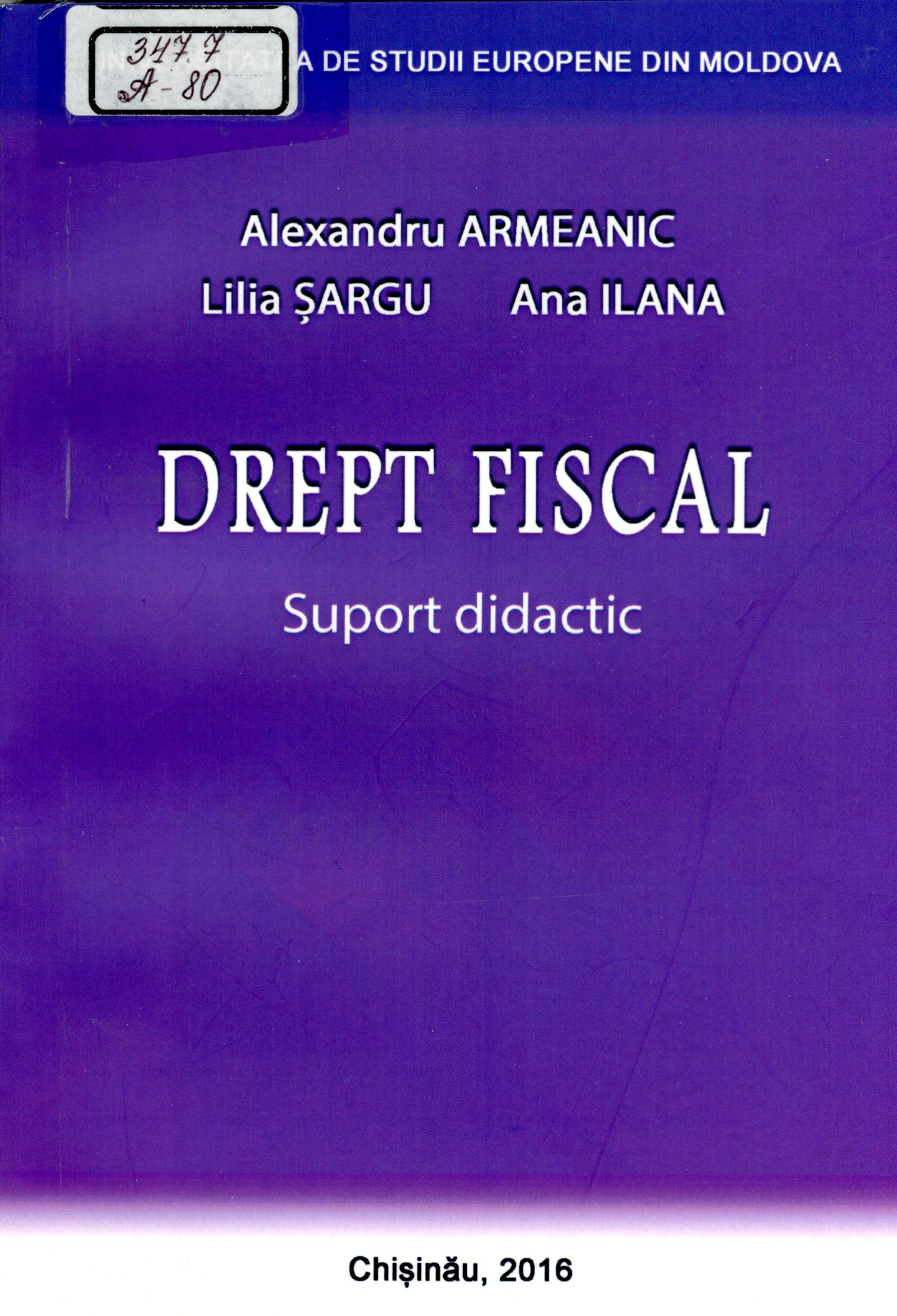 Drept fiscal: Suport didactic