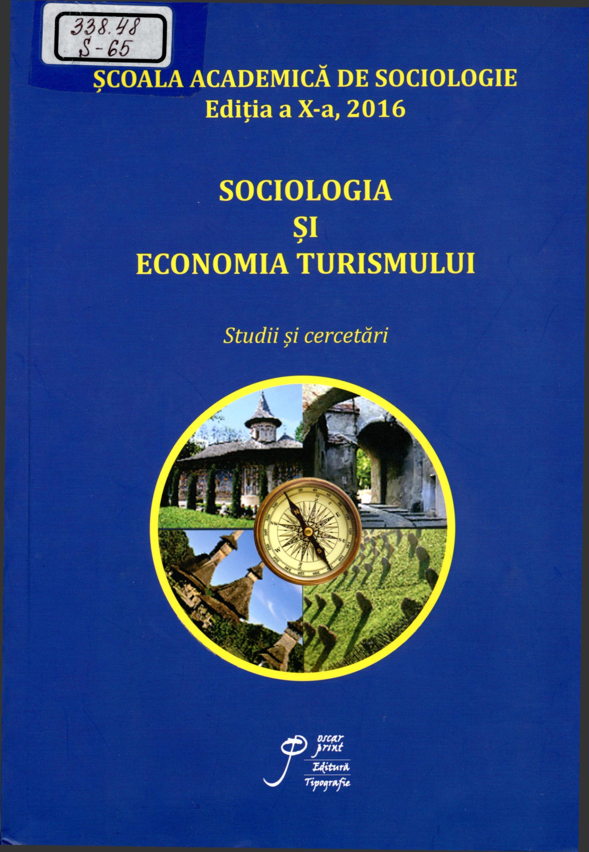 Sociologia și economia turismului: Studii și cercetări