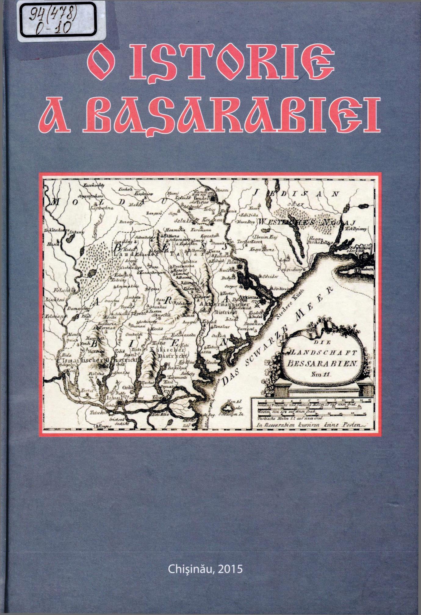 O istorie a Basarabiei