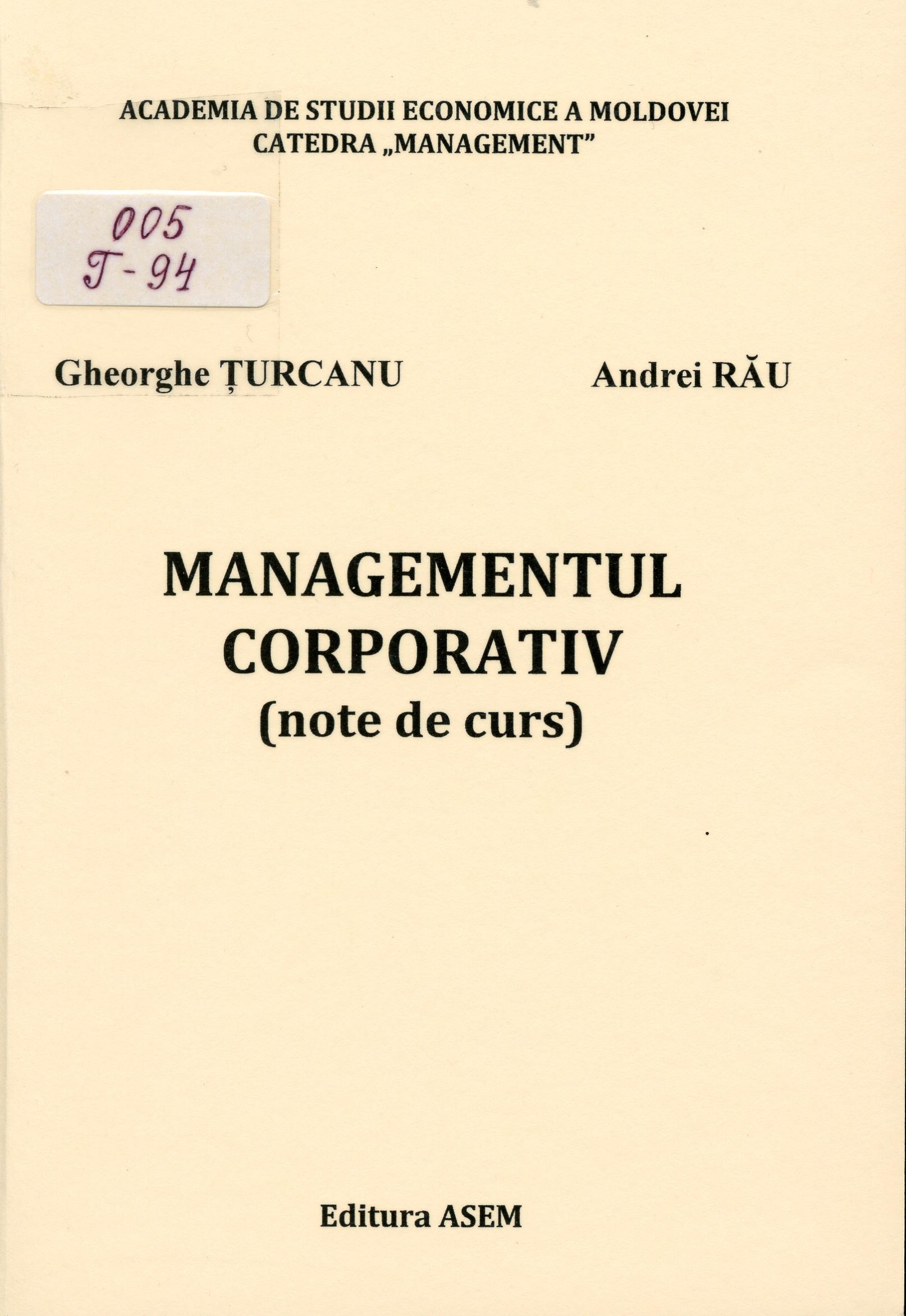 Managementul corporativ