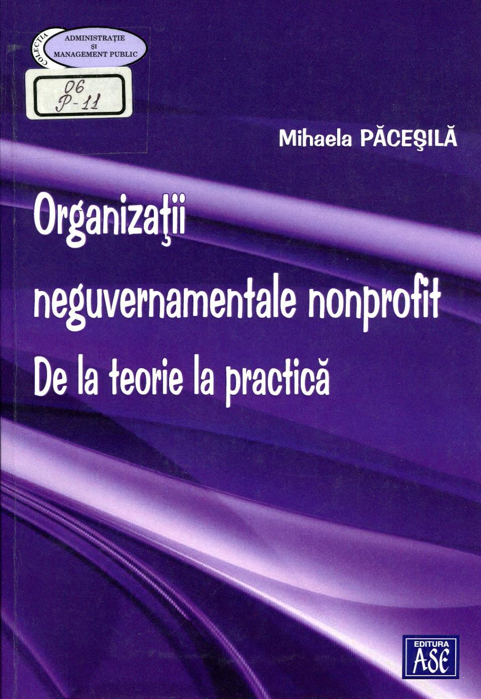 Organizații neguvernamentale nonprofit: De la teorie la practică