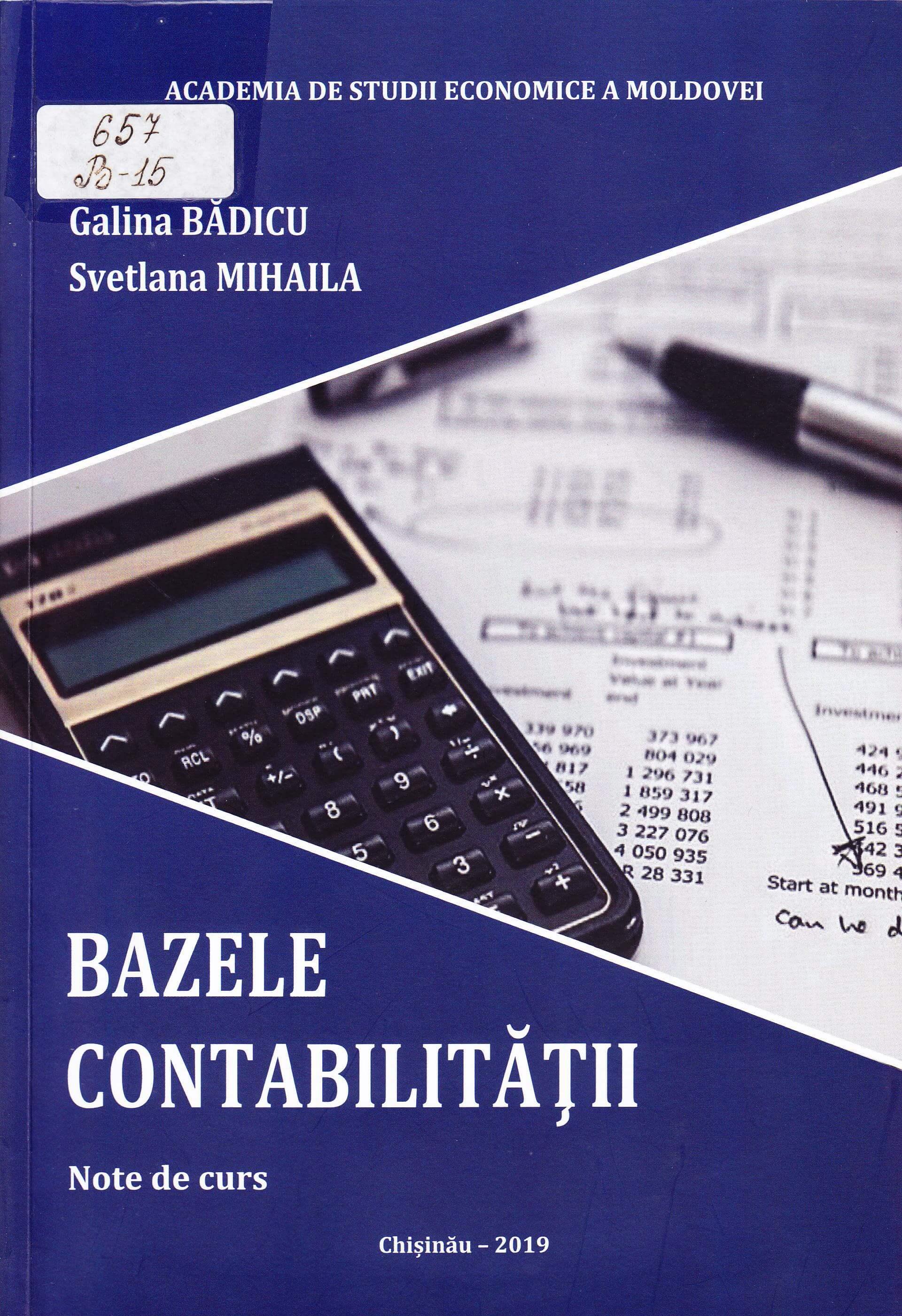 Bazele contabilităţii: Note de curs.
